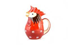 Czerwony kurczaka dzbanek Zdjęcia Royalty Free