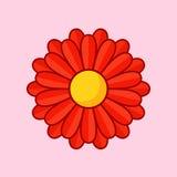 czerwony kwiat ilustracji