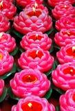 czerwony kwiat candle Obrazy Royalty Free