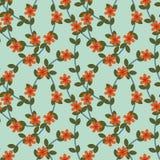 Czerwony kwiatu wzór Obrazy Royalty Free