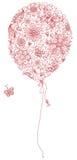 Czerwony kwiecisty balon Zdjęcie Royalty Free