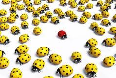 Czerwony ladybird bagatelizują ilustracja wektor