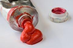 czerwony lakier Fotografia Royalty Free