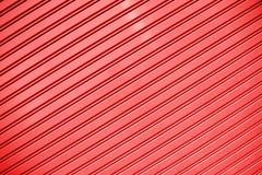 Czerwony lampasa metalu prześcieradła ściany tekstury tło Zdjęcia Stock