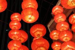 Czerwony lampowy obwieszenie na suficie Zdjęcie Stock