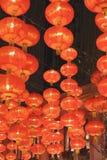 Czerwony lampowy obwieszenie na suficie Zdjęcie Royalty Free