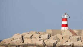 czerwony latarnia morska biel Obraz Royalty Free