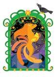Czerwony lis i szarości wrona Zdjęcie Royalty Free