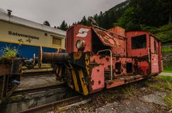 czerwony lokomotoryczna zdjęcia royalty free