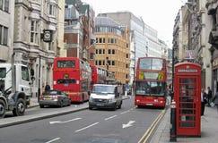 czerwony London autobusowy taxi Obraz Royalty Free