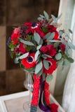Czerwony ślub kwitnie bouqete Zdjęcie Royalty Free