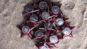 Czerwony lub Radziecki wojsko rozkaz Red Star zdjęcie wideo
