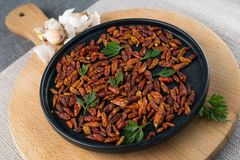 Czerwony mały chili pieprz suszący Fotografia Royalty Free