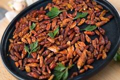 Czerwony mały chili pieprzu zakończenie up Zdjęcie Royalty Free