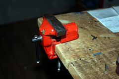 Czerwony mały imadło Zdjęcie Stock