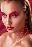 Czerwony makeup Obrazy Stock