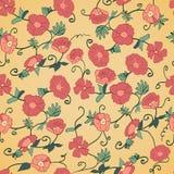 Czerwony Makowy Bezszwowy Textured tło Zdjęcie Royalty Free