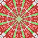 Czerwony mandala róże kształtuje faborki, ethno motyw Zdjęcie Royalty Free