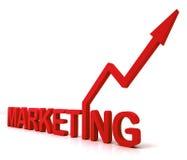 Czerwony marketingu słowo Znaczy Promocyjne sprzedaże I reklamę Obraz Royalty Free