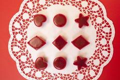 Czerwony marmoladowy w foremkach Fotografia Royalty Free