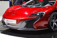 Czerwony McLaren 650s Lemański Motorowy przedstawienie 2015 Obrazy Stock