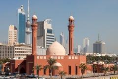 Czerwony meczet w Kuwejt mieście Zdjęcia Royalty Free
