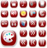 czerwony mediów cyfrowych ikon ruby ilustracja wektor