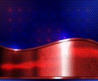 Czerwony metalu talerz ilustracja wektor