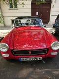 Czerwony MG rocznika samochód Fotografia Royalty Free