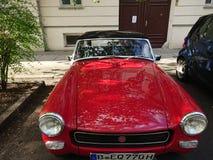 Czerwony MG rocznika samochód Zdjęcia Stock