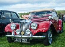 Czerwony MG TF sportów samochód Fotografia Royalty Free