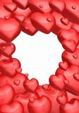 Czerwony miłość serc tło Fotografia Royalty Free
