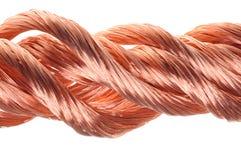 Czerwony miedzianego drutu przemysł Fotografia Stock