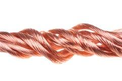 Czerwony miedzianego drutu przemysł Obrazy Royalty Free