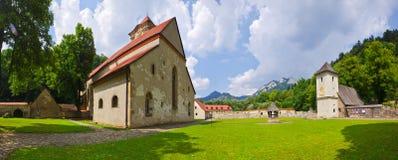 Czerwony monaster zdjęcia royalty free
