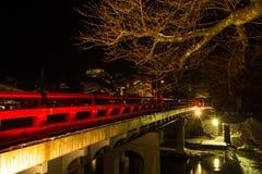 Czerwony most Takayama Obraz Stock