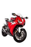 Czerwony motocykl Zdjęcia Royalty Free