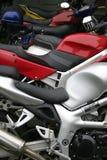 czerwony motocykl Fotografia Stock