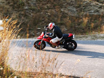 Motocykl akcja Obraz Royalty Free