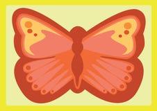 Czerwony motyl Obraz Stock