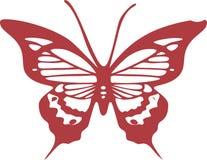 Czerwony Motyli wektoru EPS projekt Obrazy Stock