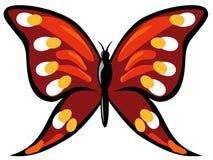 czerwony motylia Obrazy Royalty Free