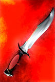 czerwony na noże Fotografia Royalty Free