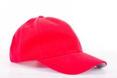 Czerwony nakrętka kapelusz odizolowywający Zdjęcie Stock