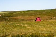 czerwony namiot zdjęcie royalty free