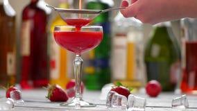 Czerwony napój w szkle zbiory