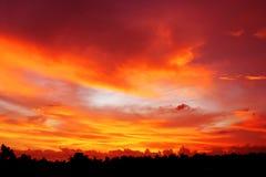Czerwony niebo Obrazy Stock