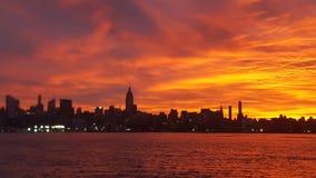 Czerwony niebo w ranku Zdjęcie Royalty Free