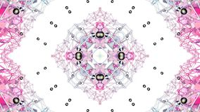 Czerwony niski poli- geometryczny abstrakcjonistyczny tło jako poruszający witrażu lub kalejdoskopu skutek w 4k Pętli 3d animacja zbiory