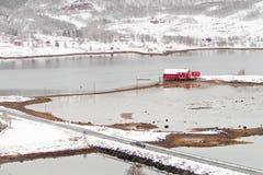 czerwony Norway domowy morze Fotografia Royalty Free